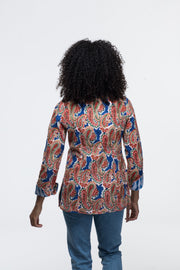 Bolavi Reversible Jacket Hand Block Printed Pure Cotton