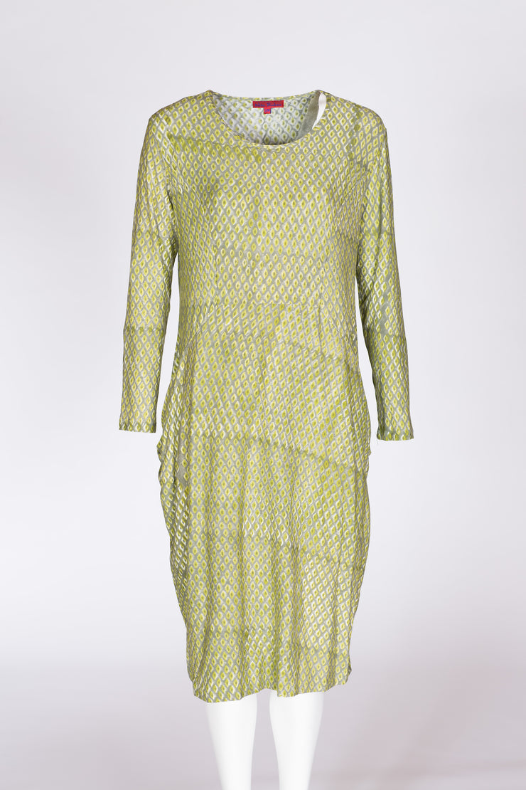 Tara Dress Hand Block Printed Jersey - Only S/M Sizes Left! Was £125 Now £39!