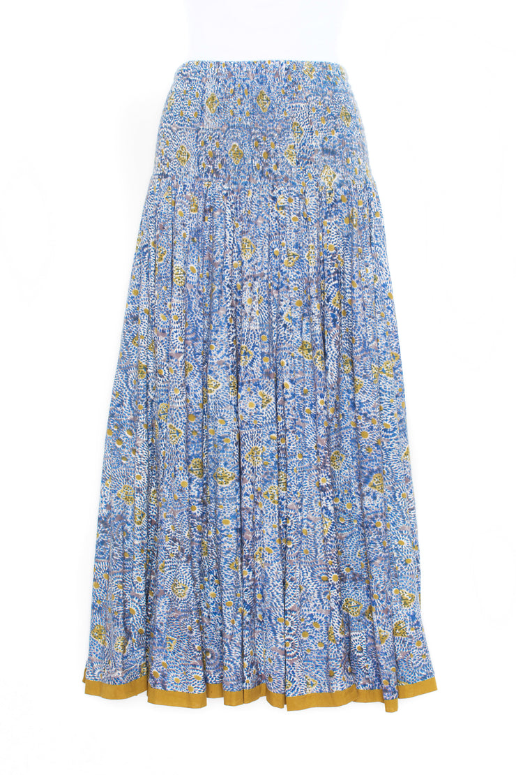 50 Panel Skirt Hand Block Printed Jersey £110 - Now £59