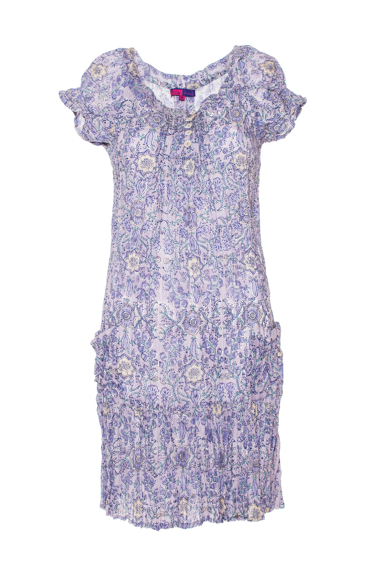 Maya Pocket Dress Hand Block Printed In Pure Cotton