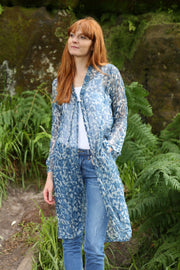 New Nargis Jacket Hand Block Printed in Textured Cotton