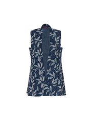 Rumi Reversible Waistcoat Hand Block Printed In Pure Cotton