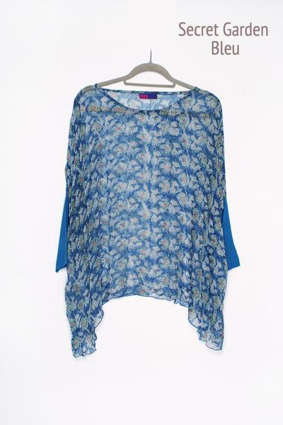 Sohar Top Hand-Block Printed In Chiffon £65 - Now £25!