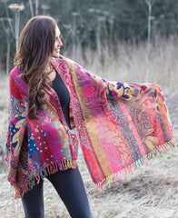 Tropical Forest Merino Wool Shawl £59