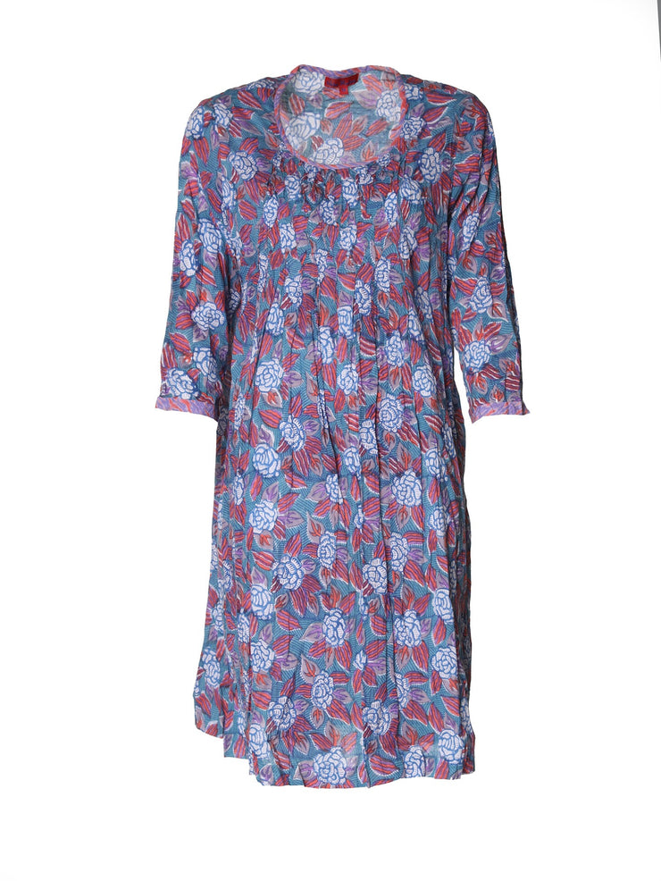 Lilah Tunic Dress Hand Block Printed in Pure Cotton. Only Size M Left!