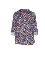 Classic Shirt Hand Block Printed Brushed Cotton £49 - Now £29