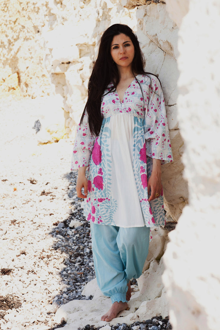 Himalaya Kaftan Hand Block Printed Pure Cotton