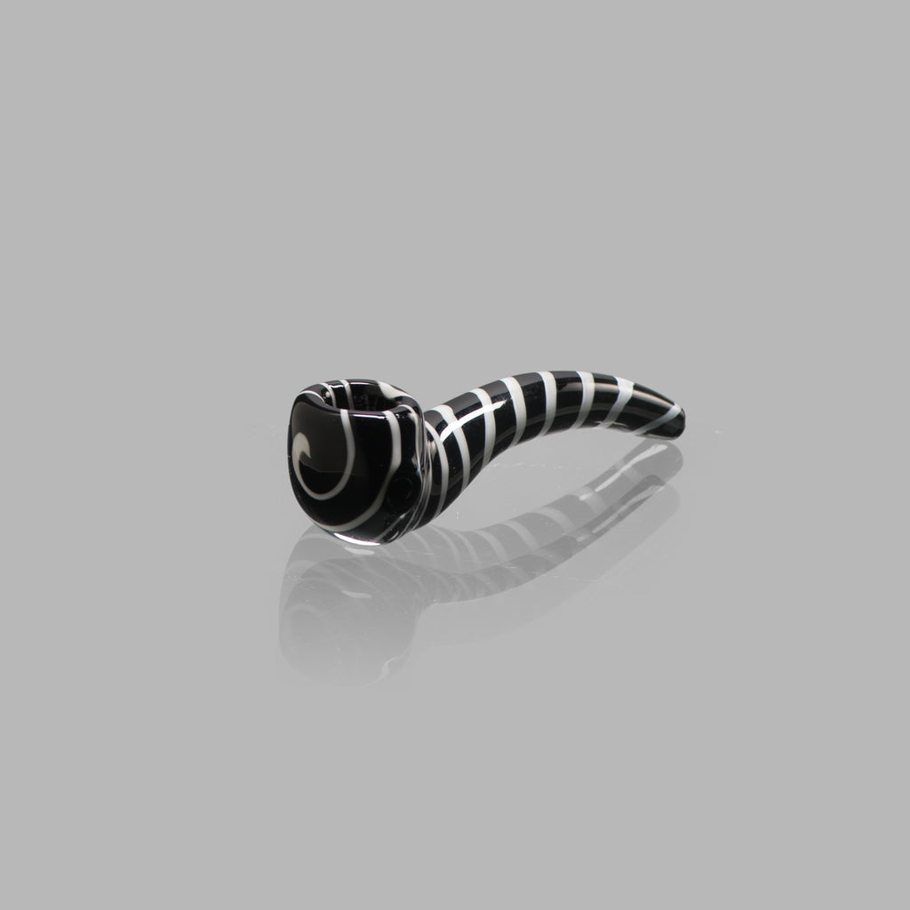 CHEECH BLACK SWIRL PIPE