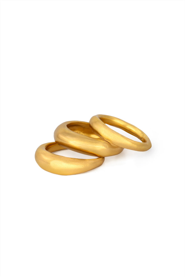 Gold Plated Filthy Ring Stack