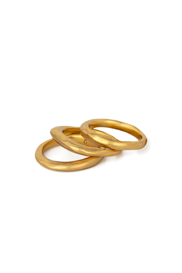 Gold Plated PHAT Ring Stack