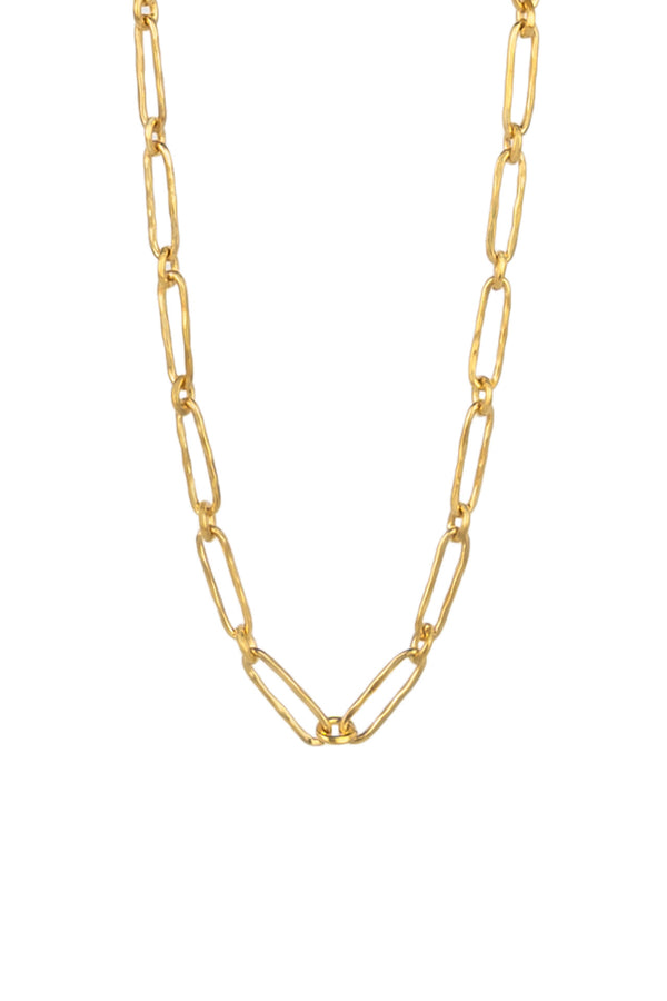 Oval to Round Link Necklace