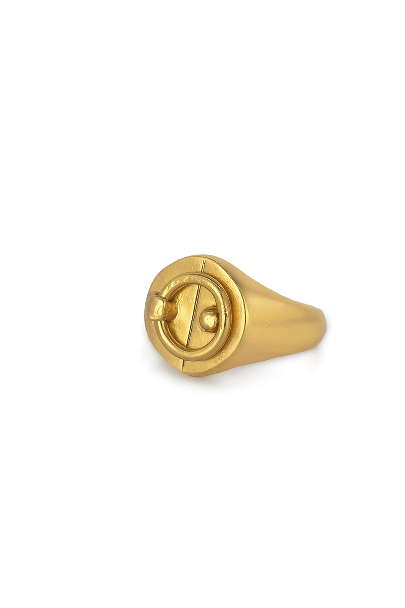 Gold Plated Safety Ring
