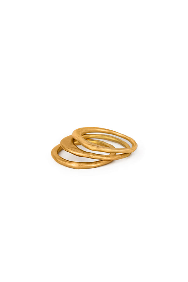 Gold Plated Dainty Ring Stack