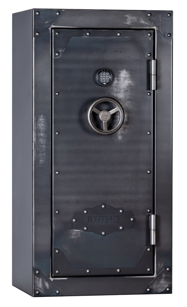"Rhino Strong Box | 35 | 80 Minute Fire Protection | Iron | Black Electronic Lock | 60""(H) x 30""(W) x 25""(D)"