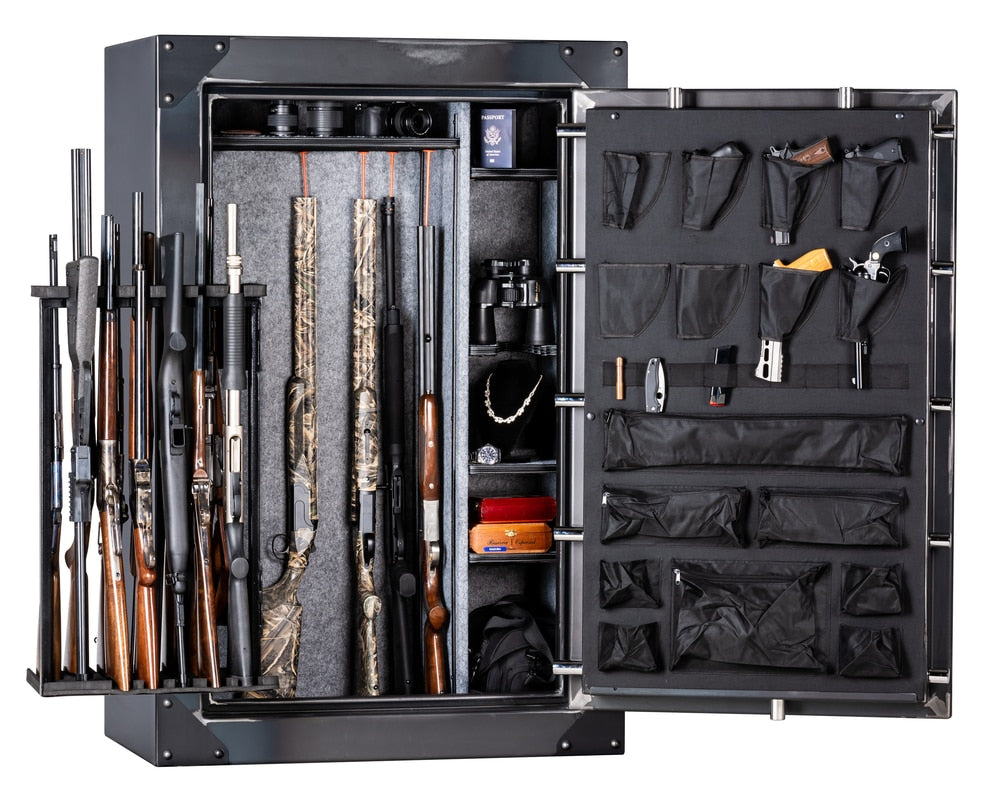 "Rhino Strong Box | 50 | 80 Minute Fire Protection | Iron | Black Electronic Lock | 60""(H) x 40""(W) x 25""(D)"