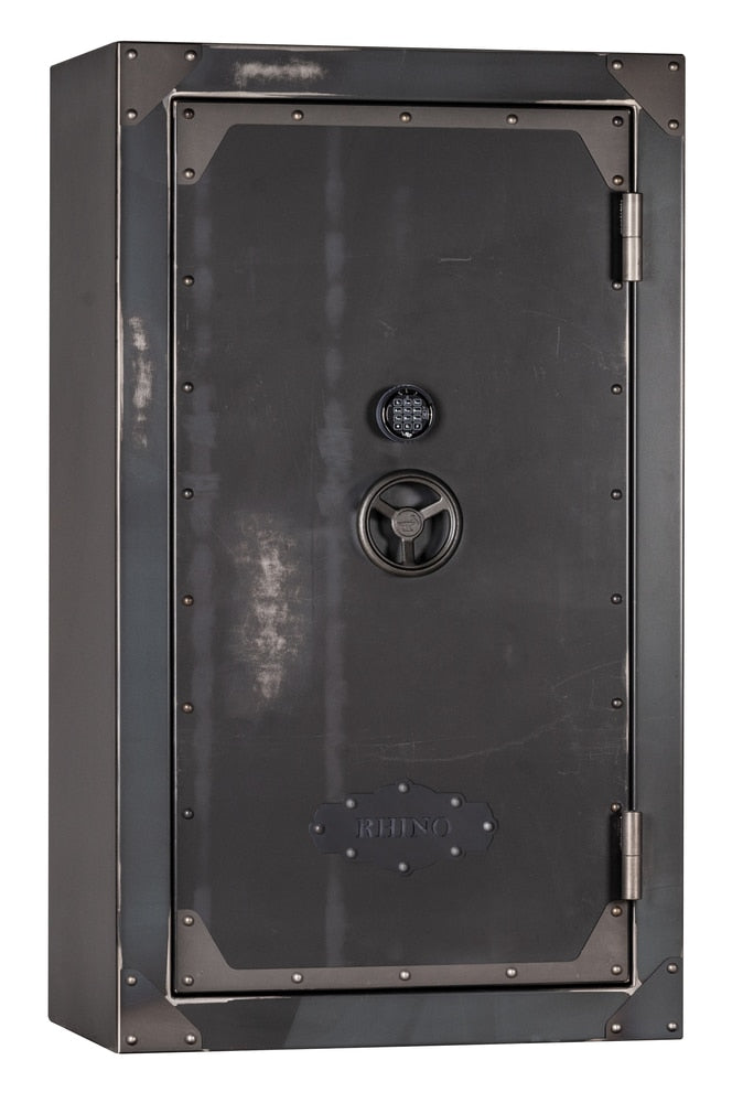"Rhino Strong Box | 52 | 80 Minute Fire Protection | Iron | Black Electronic Lock | 72""(H) x 42""(W) x 27""(D)"