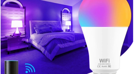 WiFi Multicolored Smart LED Light Bulb Works with Alexa and Google