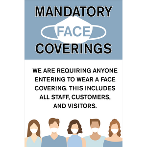 "Masks Required A-Frame Sign Insert (24""x36"")"