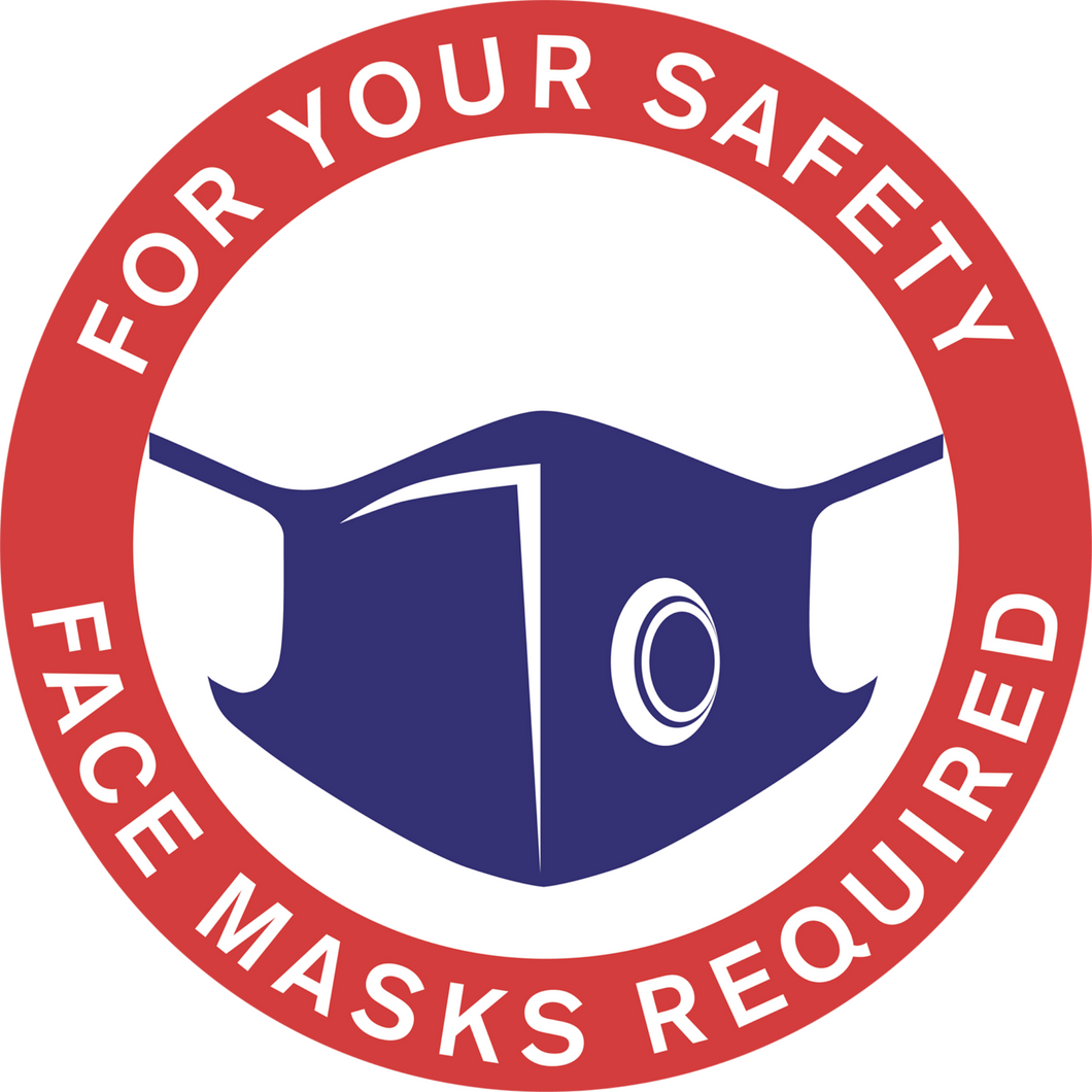 "Masks Required Window Cling (15"")"