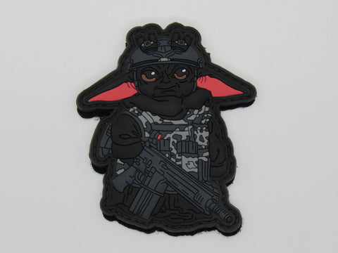 Blacked Out Tactical Baby Yoda