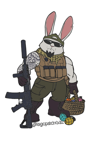 Operator Easter Bunny Vinyl Decal
