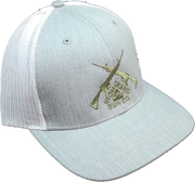 Heather Gray/White Logo Snapback