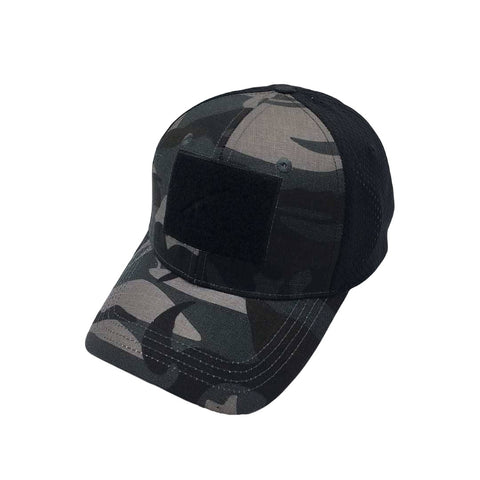 ISGC Tactical Mesh Velcro Hat - Black Multicam