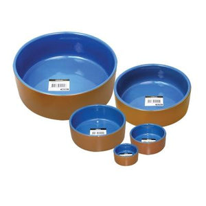 Pet One - Bowl Terracotta Blue Glazed 1765ml