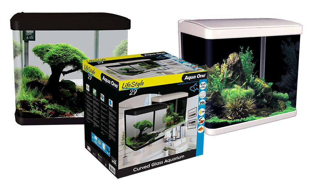 Aqua One LifeStyle 29 Complete Glass Aquarium 29l Black