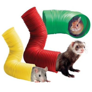 Pet One Bendable Extendable Critter Tunnel 15cm x 80cm Green Rabbit Guinea Pig Ferret Toy