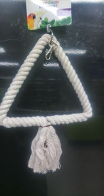 Bird Toy Rope Swing Triangle