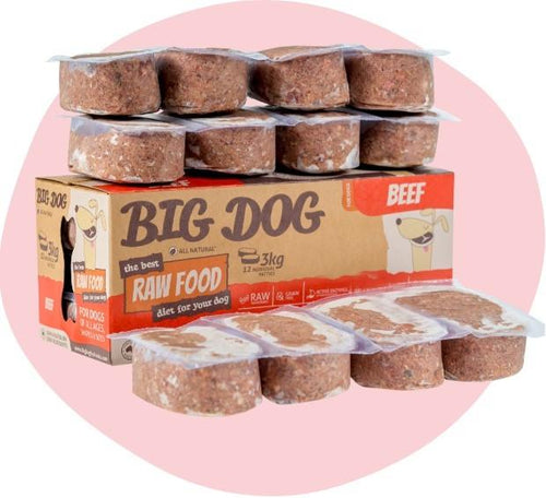 Big Dog BARF Beef Raw Food 3kg 12pk