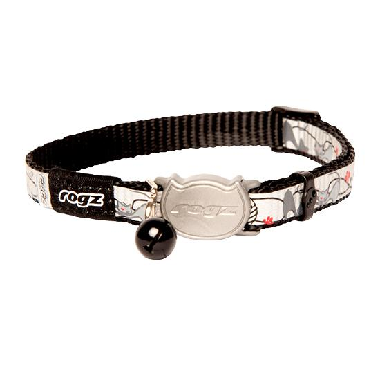 Rogz Reflectocat Safelock Cat Kitten Collar Black Extra Small