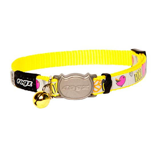 Rogz Reflectocat Safelock Cat Collar Yellow Small