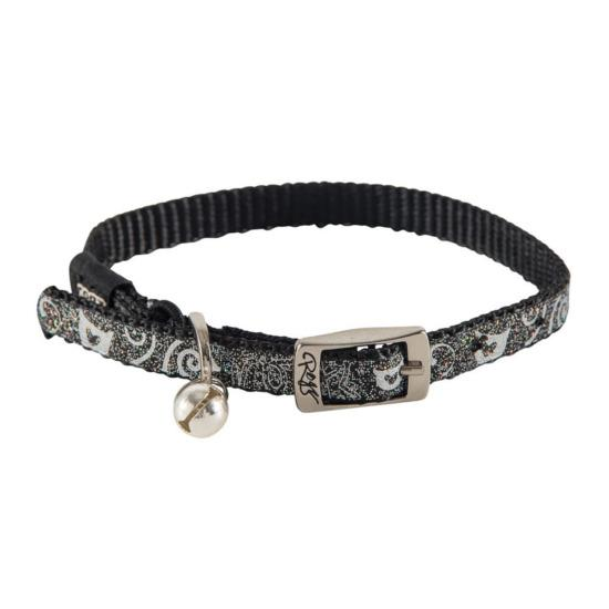 Rogz Sparklecat Pin Buckle Cat Collar Black Small
