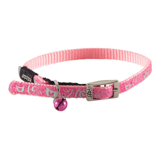 Rogz Sparklecat Pin Buckle Cat Kitten Collar Pink Extra Small
