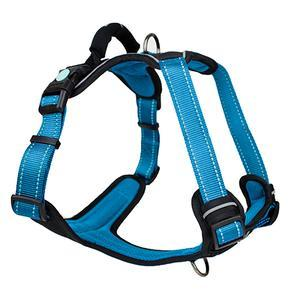 Huskimo Ultimate Dog Harness Bells Beach Blue Small