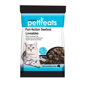 Australian Pet Treats Purr-fection Seafood Loveables Cat Treats 80g