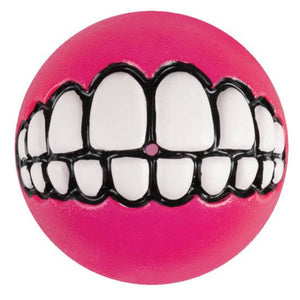 Rogz Grinz Dog Toy Treat Ball Pink Medium