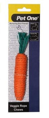 Pet One Small Animal Chew Rope Carrot 1pk