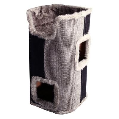 Pet One Scratching Barrel with bed Grey