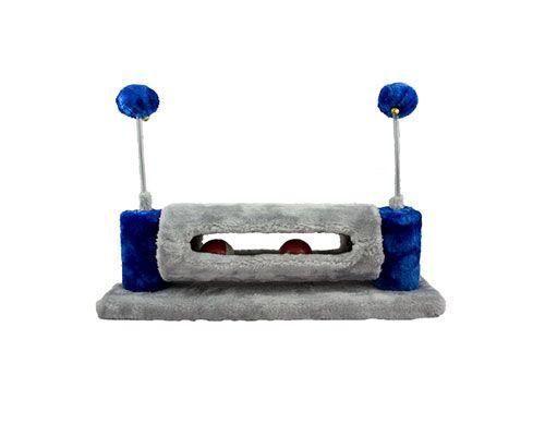Cattitude Cat or Kitten Toy Scratcher with Balls in Blue
