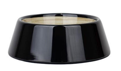 Barkley & Bella Dog Bowl Melamine Medium Black Bamboo