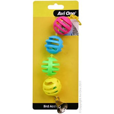 Avi One Bird Toy Geo Balls
