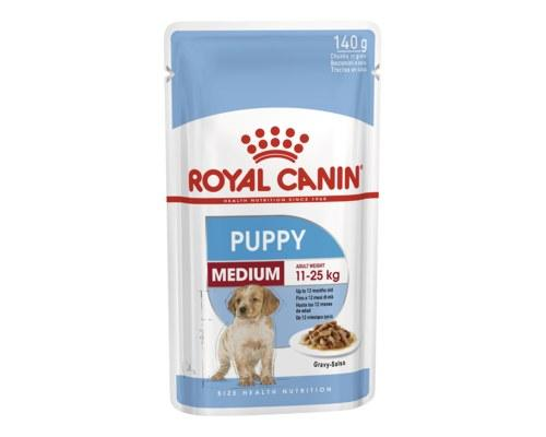 Royal Canin Puppy Medium Wet Food Gravy Pouch 140g