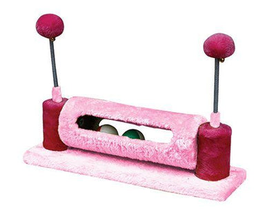 Allpet Cat or Kitten Toy Scratcher with Balls in Pink