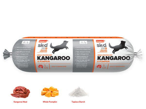 Prime 100 Kangaroo and Pumkin Dog Food Roll 2kg