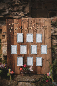 Seating plan cards in any collection look