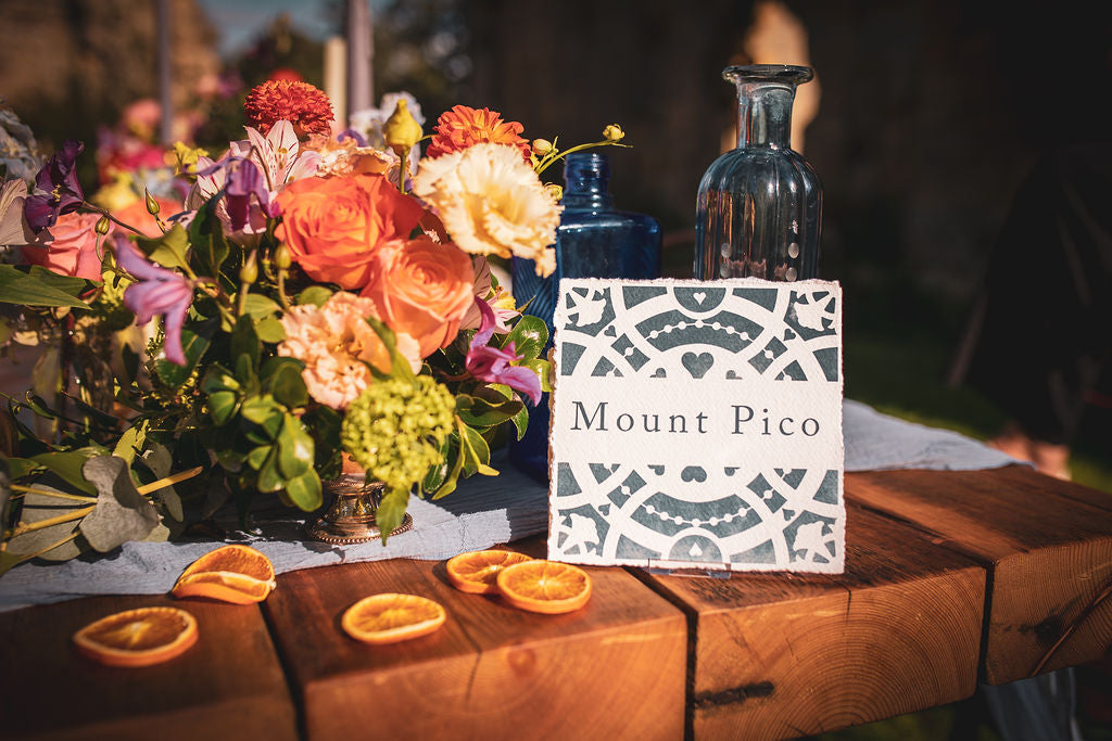 Ripon Collection Mediterranean tile table numbers