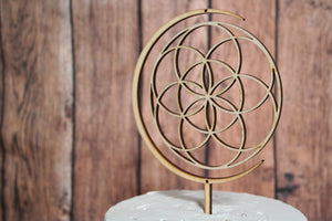 Sacred Geometry Wedding Cake Topper